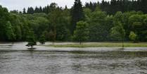 Voda na hřišti červen 2013